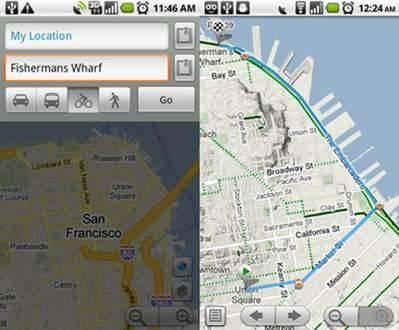 Rutas de bicicleta en Google Maps para Android