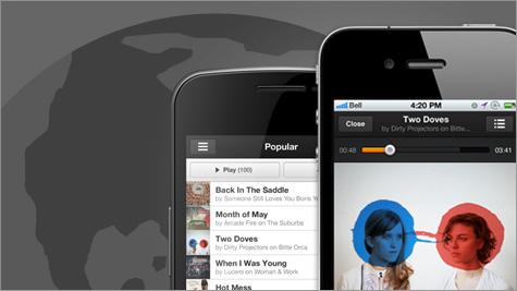 Grooveshark gratuito para móviles disponible