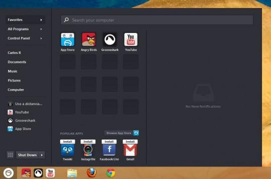 Instalar el menú de inicio en Windows 8