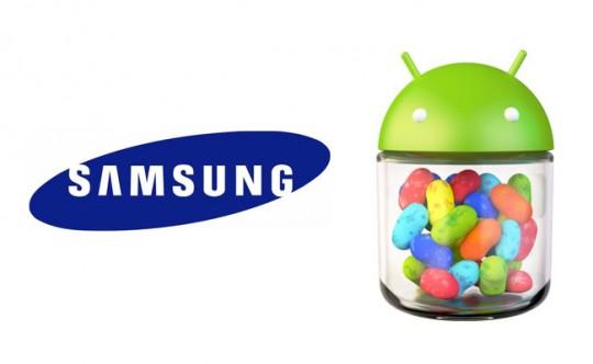 Teléfonos Samsung con actualización Android 4.1 Jelly Bean