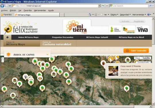 MiTierra Maps,  app para conocer lo rural