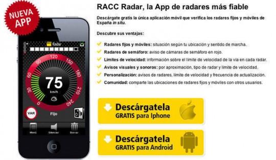 RACC Radar, y evita algunas multas.