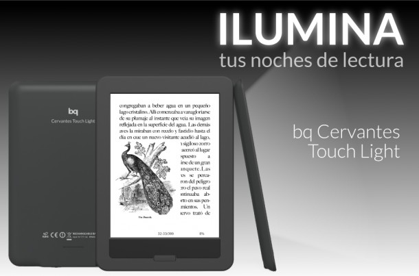 Cervantes Touch Light, el e-book iluminado de BQ