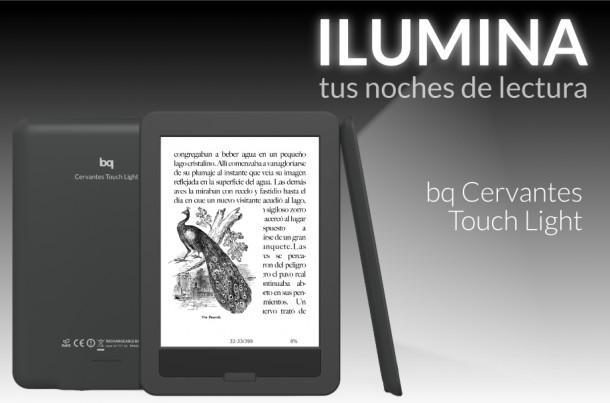 Cervantes Touch Light, el e-book iluminado de BQ