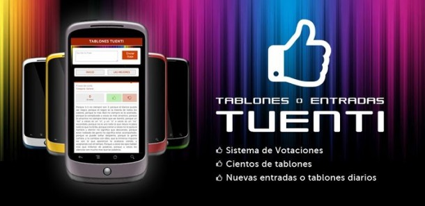 App de Tablones y entradas para Tuenti