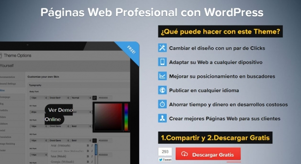 Tema profesional para WordPress personalizable