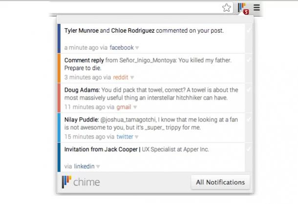 Avisos para Google Chrome