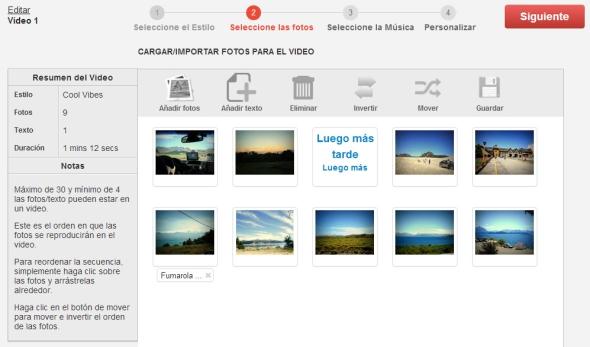 Crear vídeos con imágenes online