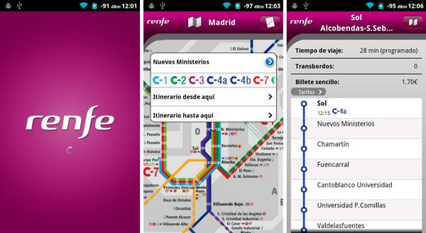 Renfe Viajes, app oficial para trenes en España