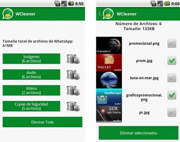 Limpiador de archivos para WhatsApp