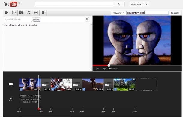 Crear vídeos con imágenes desde Youtube