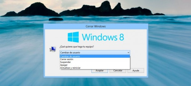 Apagar PC Windows 8