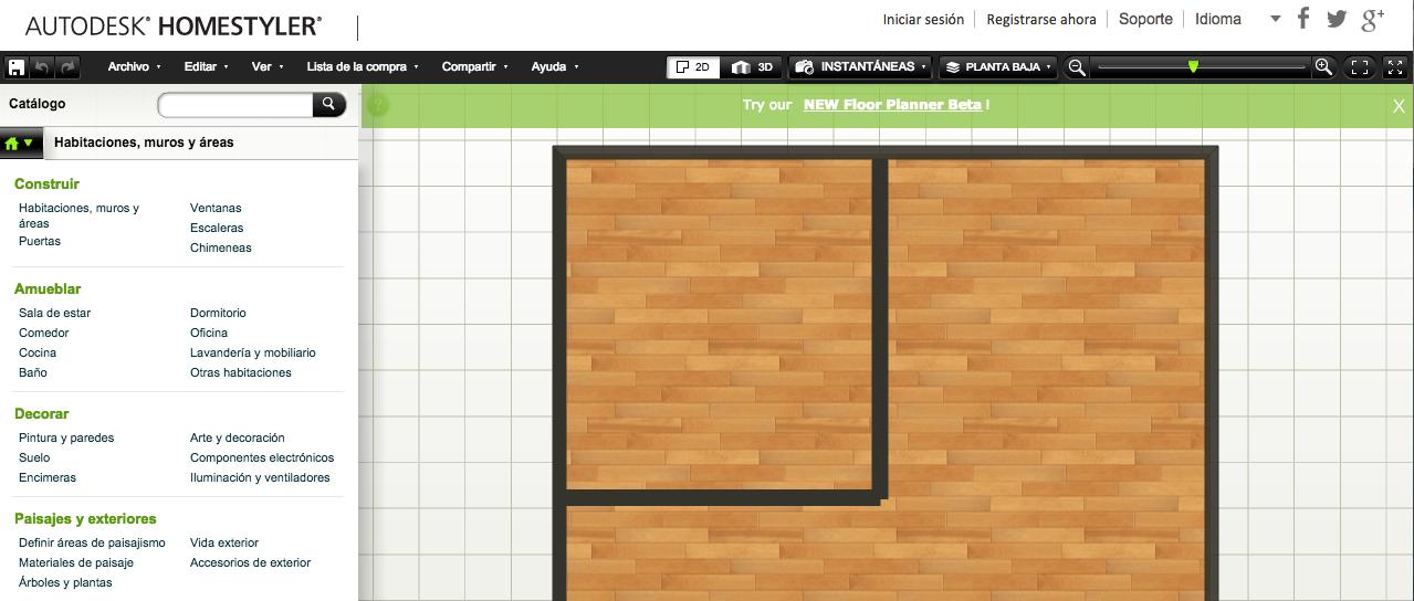 Diseñar plano sencillo de una casa o local