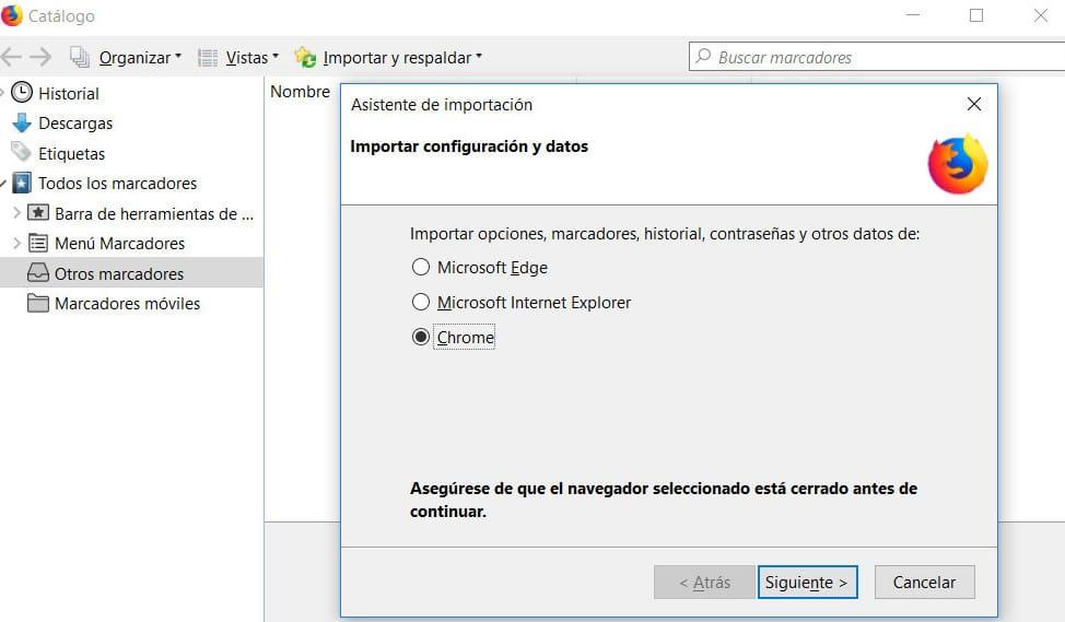Cómo administrar marcadores importados de Firefox
